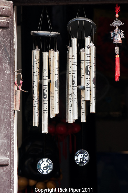 Wind chimes in a doorway, Hoi An, Vietnam