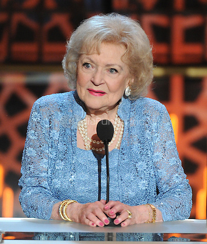 BEVERLY HILLS, CA - APRIL 11: Betty White appears on the 2015 TV Land Awards at the Saban Theater on April 11, 2015 in Beverly Hills, California. FMPG/MediaPunch