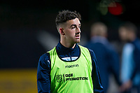 8th November 2019; Dens Park, Dundee, Scotland; Scottish Championship Football, Dundee Football Club versus Dundee United; Shaun Byrne of Dundee during the warm up before the match  - Editorial Use