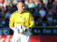 Kasey Keller of Sounders in action during the game against the Earthquakes at Buck Shaw Stadium in Santa Clara, California on July 31st, 2010.   Seattle Sounders defeated San Jose Earthquakes, 1-0.