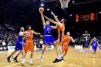 Saints' Rob Loe in action during the NBL - Cigna Saints v Southland Sharks at TSB Bank Arena, Wellington, New Zealand on Thursday 25 April 2019. <br />