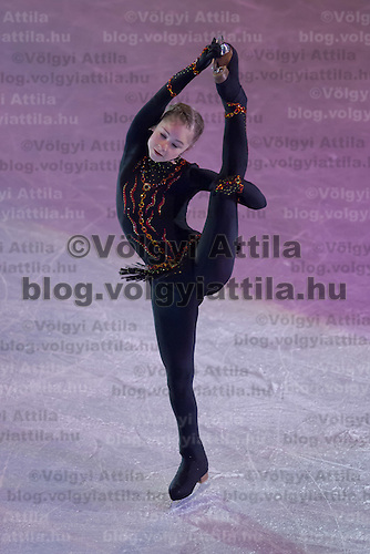 Julia Lipnitskaia of Russia gold medalist in the Women's Figure Skating competition performs during the gala exhibition of the ISU European Figure Skating Championships in Budapest, Hungary on January 19, 2014. ATTILA VOLGYI