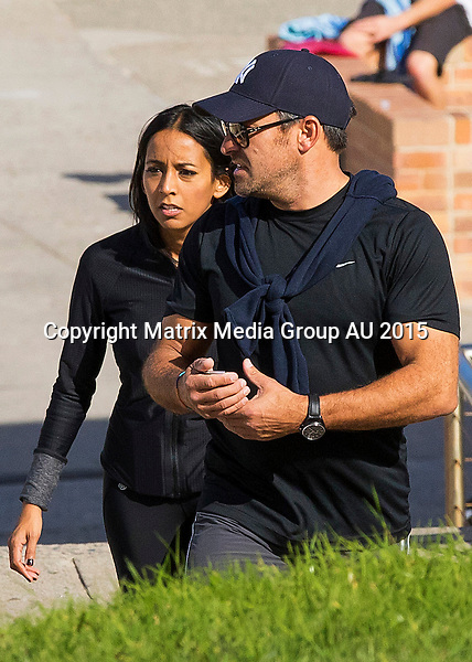 16-17 MAY 2015 SYDNEY AUSTRALIA<br /> <br /> EXCLUSIVE PICTURES<br /> <br /> Jamie Durie pictured with a brunette mystery woman / new love interest a few short hours after returning to Sydney. The pair were spotted taking a long walk from Bronte to Bondi to shake off the jet lag and later visiting a local Bunnings to grab some bits and pieces for their love nest.