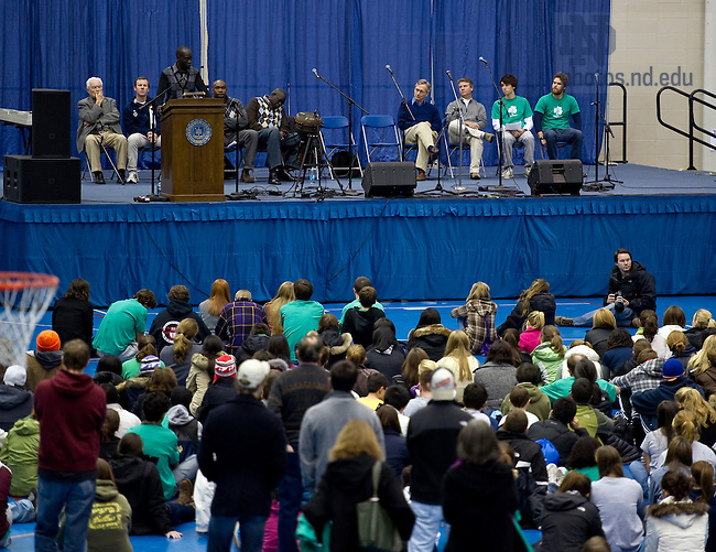 "Dec. 4, 2010;  ""Stand With Sudan Peace Rally"" at the Joyce Center fieldhouse...Photo by Matt Cashore/University of Notre Dame"