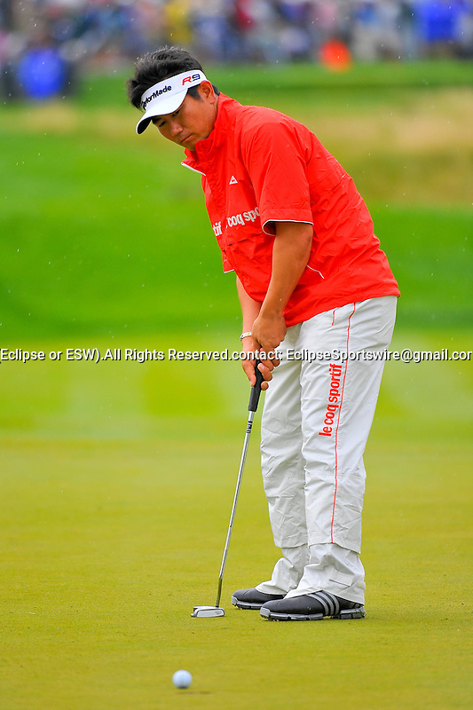 28 August 2009: Y.E. Yang of South Korea during the second round of The Barclays PGA Playoffs at Liberty National Golf Course in Jersey City, New Jersey.