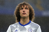 David Luiz of Chelsea pre-match during Chelsea vs Watford, Premier League Football at Stamford Bridge on 15th May 2017