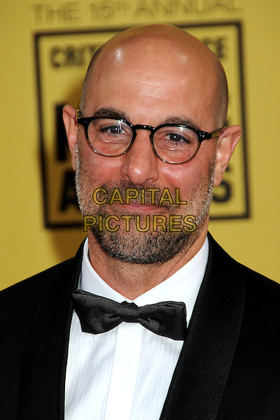 STANEY TUCCI .15th Annual Critics' Choice Movie Awards - Arrivals held at the Hollywood Palladium, Hollywood, California, USA, 15th January 2010..portrait headshot beard facial hair glasses bow tie black.CAP/ADM/BP.©Byron Purvis/Admedia/Capital Pictures