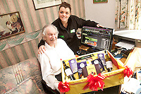 92 year old Arthur Lloyd of West Bridgford, ASDA.com's oldest online shopper was delighted to receive a celebratory hamper on his birthday from ASDA Section Leader Sara Crocker