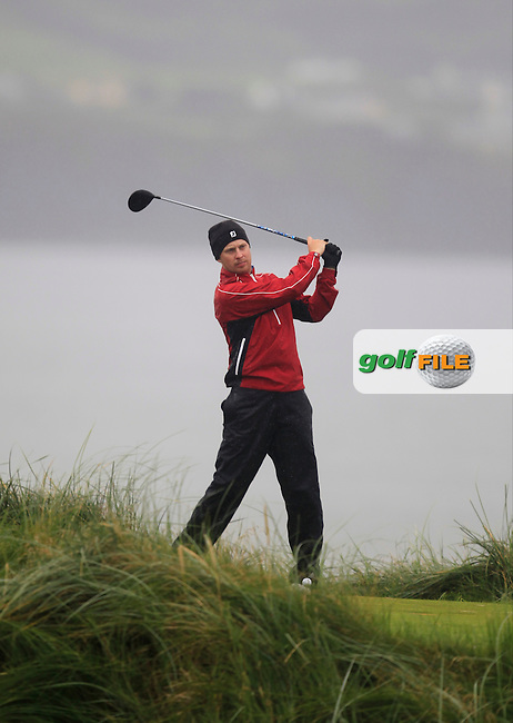 Simon Ward (Co. Louth) on the 7th tee during the South of Ireland Amateur Open Championship Semi-Finals at Lahinch Golf Club  31th July 2013 <br /> Picture:  Thos Caffrey / www.golffile.ie