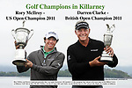 27-7-2011: Rory McIlroy and Darren Clarke pictured after they were made Honourary Life members of The European Tour pictured ahead of the pro-am on the Killeen Course at Killarney Golf Club on Wednesday.<br /> Picture by Don MacMonagle