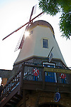 Wooden windmill in the Danish style village of Solvang, Santa Barbara County, California