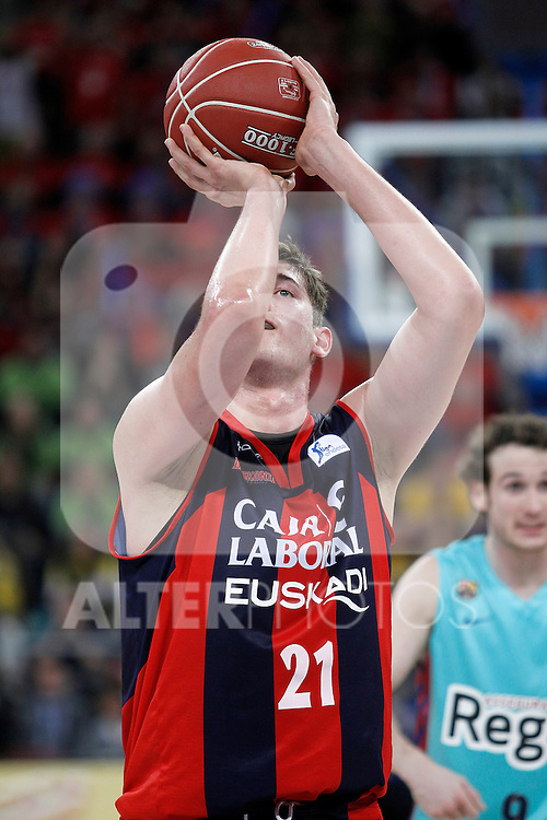 Caja Laboral Baskonia's Tibor Pleiss during Spanish Basketball King's Cup semifinal match.February 07,2013. (ALTERPHOTOS/Acero)