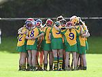 The  Inagh-Kilnamona team huddle before their senior county final in Clarecastle. Photograph by John Kelly.
