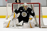 June 28, 2018: Boston Bruins goalie Dan Vladar (80) works in the net during the Boston Bruins development camp held at Warrior Ice Arena in Brighton Mass. Eric Canha/CSM