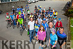 Kerry Youth Initiative Cycling coaching with Paddy Doran here with coaches from Killorglin club, Kingdom, Killarney, I Bike and Slieve Luachra Pictured Micheal O'Shea Killorglin Cycling Club, Helen Barrett I Bike, Laura Jane Nealon Kingdom Cycle Team, Ciara McGowan Killarney, Paddy Doran Dublin, Tom Barrett I Bike and Dick McElligott Kingdom Cycle Team and Cyclists in Castleisland on Saturday