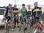 Damien Faulkner, Mick Nulty, Javan Nulty, Jeff Caffrey and Ronan Fox who took part in the Ras Cabhru cycle in aid of Drogheda Homeless Aid. Photo:Colin Bell/pressphotos.ie