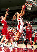 STANFORD, CA - FEBRUARY 24: Carolyn Moos of the Stanford Cardinal during Stanford's 78-73 win over the Washington State Cougars on February 24, 2000 at Maples Pavilion in Stanford, California.