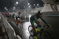 PICTURE BY MARK GREEN/SWPIX.COM ATP  Tour of Abu Dhabi - Yas Island Stage, UAE, 26/02/17<br /> In the early stages of the Yas Marina stage the rain was at monsoon levels.