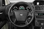 Steering wheel view of a 2009 Dodge Journey