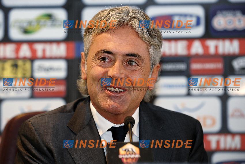 Franco Baldini Direttore Generale As Roma.Roma 21/10/2011 Centro sportivo Trigoria.Football Calcio Serie A 2011/2012.Conferenza Stampa.Foto Insidefoto Andrea Staccioli
