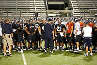 SAN ANTONIO, TX - SEPTEMBER 8, 2010: The University of Texas at San Antonio Roadrunners Football team holds their first practice at the Dub Farris Athletic Complex. (Photo by Jeff Huehn)