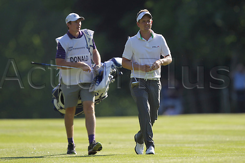 26.05.2012 Wentworth, England. Luke Donald (ENG) in action during the BMW PGA Championship.
