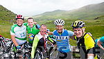 John Reen, Tralee, Aidan Walsh, The Spa, Seanie Gleasure, Tralee, John O'Carroll, Barrow and Niall O'Dowd, The Kerries  at the top of Coomakista at the Ring of Kerry cycle on Saturday.