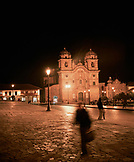 PERU, Cusco, South America, Latin America, exterior of a church in Plaza De Armas in Cusco.