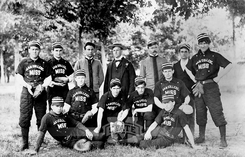 Mississippi A&amp;M College Baseball Team <br /> (&copy; Mississippi State University)
