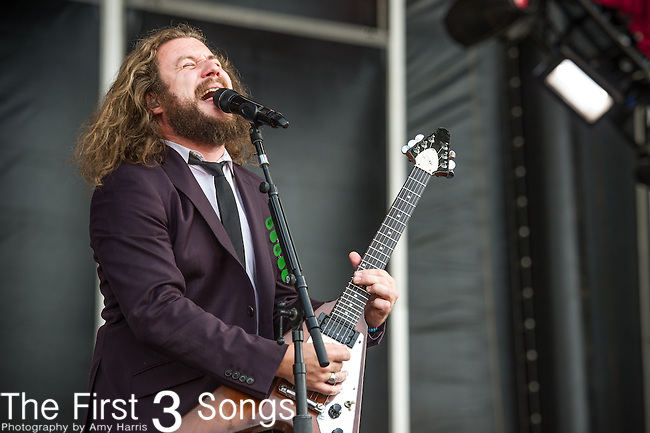 Jim James performs during Day 2 of the 2013 Firefly Music Festival in Dover, Delaware.