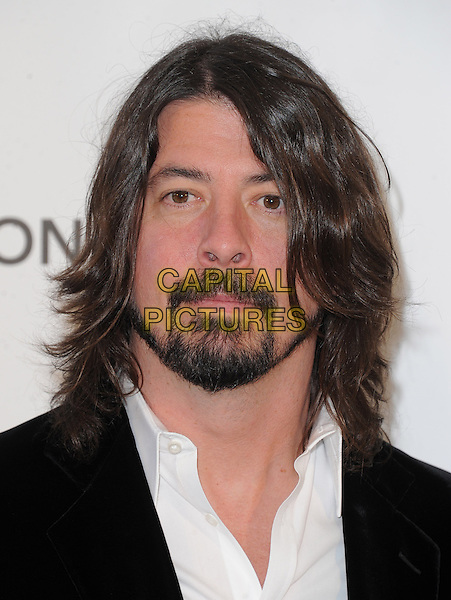 Dave Grohl (Foo Fighters)  .The 21st Annual Elton John AIDS Foundation Academy Awards Viewing Party held at The City of West Hollywood Park in West Hollywood, California, USA..February 24th, 2013.oscars headshot portrait suit black white suit shirt beard facial hair  .CAP/DVS.©DVS/Capital Pictures.