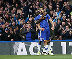 Chelsea's Diego Costa celebrates scoring his sides opening goal during the Premier League match at Stamford Bridge Stadium, London. Picture date: May 8th, 2017. Pic credit should read: David Klein/Sportimage