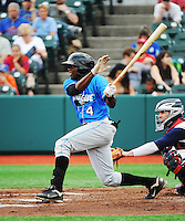Hudson Valley Renegades infielder Ariel  Soriano (4) during game against the Brooklyn Cyclones at MCU Park on July 28, 2013 in Brooklyn, NY.  Brooklyn defeated Hudson Valley 4-2.  Tomasso DeRosa/Four Seam Images