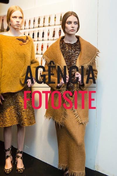 Milao, Italia &ndash; 02/2014 - Desfile de Alberta Ferretti durante a Semana de moda de Milao - Inverno 2014. <br /> Foto: FOTOSITE