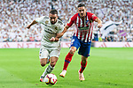 Real Madrid Dani Carvajal and Atletico de Madrid Koke Resurreccion during La Liga match between Real Madrid and Atletico de Madrid at Santiago Bernabeu Stadium in Madrid, Spain. September 29, 2018. (ALTERPHOTOS/Borja B.Hojas)