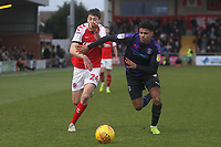 Fleetwood Town's Ashley Nadesan  in action with Luton Town's James Justin <br /> <br /> Photographer Mick Walker/CameraSport<br /> <br /> The EFL Sky Bet League One - Fleetwood Town v Luton Town - Saturday 16th February 2019 - Highbury Stadium - Fleetwood<br /> <br /> World Copyright © 2019 CameraSport. All rights reserved. 43 Linden Ave. Countesthorpe. Leicester. England. LE8 5PG - Tel: +44 (0) 116 277 4147 - admin@camerasport.com - www.camerasport.com