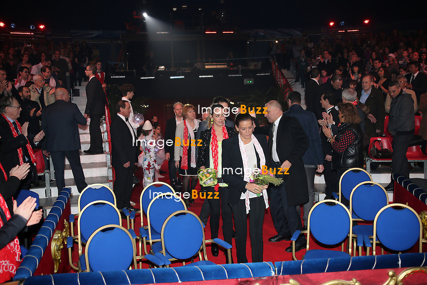 PRINCESS STEPHANIE OF MONACO WITH DAUGHTER & SON /February 3rd, 2013-H. S. H. Princess Stephanie of Monaco arrives at the last show of the 2nd New Generation Circus Festival with her daughter Pauline Ducruet (president of the jury of New Generation) and son Louis Ducruet.