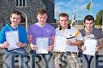 Robert Burke Milltown, David Palmer Fossa, Anthony Keogh Killarney and Kevin Courtney Listry who were delighted with their results at Milltown Presentation school on Wednesday