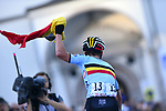 Remco Evenepoel (BEL) wins the Men Junior Road Race of the 2018 UCI Road World Championships running 132.4km from Wattens to Innsbruck, Innsbruck-Tirol, Austria 2018. 27th September 2018.<br /> Picture: Innsbruck-Tirol 2018/Dario Belingheri/BettiniPhoto | Cyclefile<br /> <br /> <br /> All photos usage must carry mandatory copyright credit (© Cyclefile | Innsbruck-Tirol 2018/Dario Belingheri/BettiniPhoto)