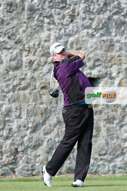 Damien Mooney (Nevada Bobs Belfast) on the 2nd tee during Round 1 of the 104th Irish PGA Championship at Adare Manor Golf Club on Thursday 2nd October 2014.<br /> Picture:  Thos Caffrey / www.golffile.ie