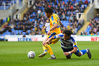Reece James of Wigan Athletic gets the better of  Danny Loader of Reading during Reading vs Wigan Athletic, Sky Bet EFL Championship Football at the Madejski Stadium on 9th March 2019