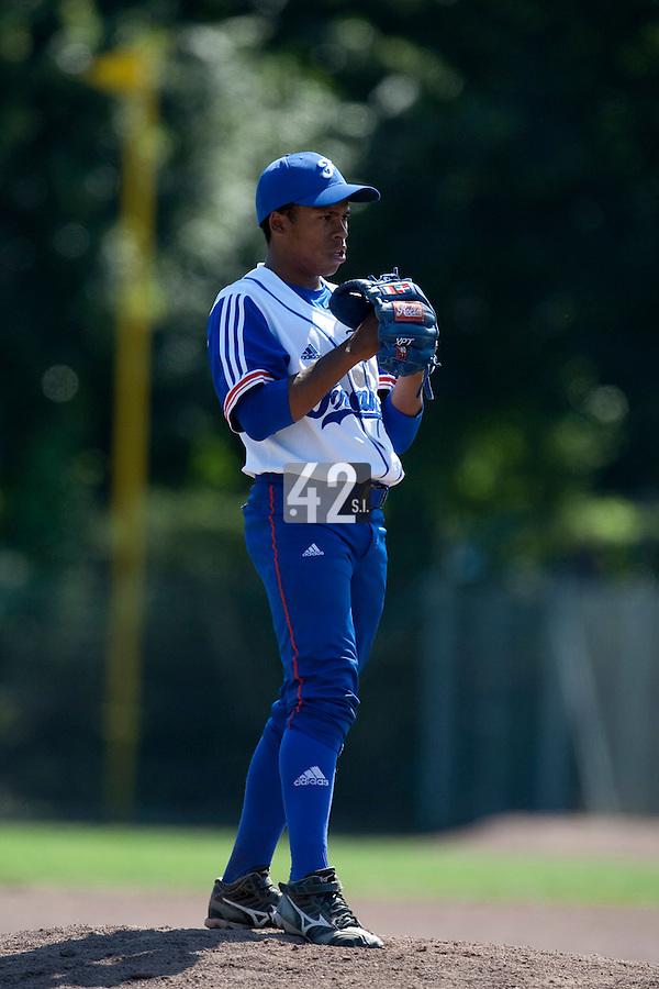 Baseball - 2009 European Championship Juniors (under 18 years old) - Bonn (Germany) - 05/08/2009 - Day 3 - Edison Garcia (France)
