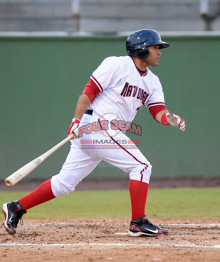 Catcher Sandy Leon (36) of the Potomac Nationals, Carolina League affiliate of the Washington Nationals, in a game against the Salem Red Sox on June 16, 2011, at Pfitzner Stadium in Woodbridge, Va. Photo by Tom Priddy / Four Seam Images