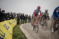 Nils Politt (DEU/Katusha-Alpecin)<br /> <br /> 117th Paris-Roubaix 2019 (1.UWT)<br /> One day race from Compiègne to Roubaix (FRA/257km)<br /> <br /> ©kramon