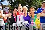 Sarah Monaghan (Tralee) Jeanette Ryan (Castleisland) Tina Donovan (Castleisland) and Siobhan Daly (Castleisland) who took part in the Killarney Women's Mini Marathon on Saturday last.