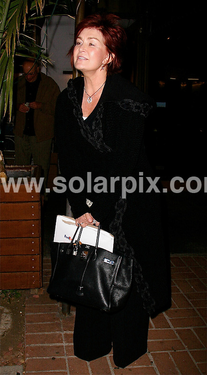**ALL ROUND PICTURES FROM SOLARPIX.COM**.**WORLDWIDE SYNDICATION RIGHTS EXCEPT FOR USA, AUSTRALIA & GERMANY**.Sharon Osbourne was spotted going out for dinner with little or no make-up to Madeos in West Hollywood with a friend. West Hollywood, Los Angeles, USA. 11th November 2008..JOB REF: 7905 LAS       DATE: 11_11_2008.**MUST CREDIT SOLARPIX.COM OR DOUBLE FEE WILL BE CHARGED* *UNDER NO CIRCUMSTANCES IS THIS IMAGE TO BE REPRODUCED FOR ANY ONLINE EDITION WITHOUT PRIOR PERMISSION*