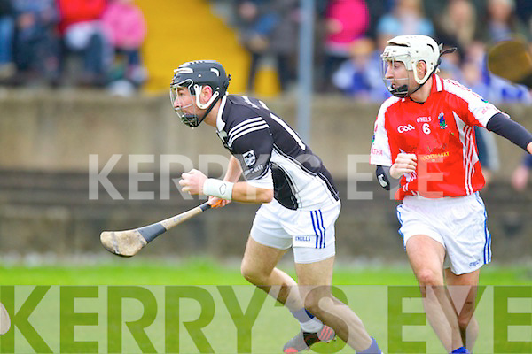 John Egan Saint Brendans in Action against Thomas Collins Ballina in the Munster Intermediate Club Semi-Final at Nenagh on Sunday.