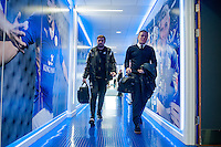 LEICESTER, ENGLAND - APRIL 18:  Swansea Manager, Garry Monk walks up the tunnel with assistant Manager Pep Clotet prior to the Premier League match between Leicester City and Swansea City at The King Power Stadium on April 18, 2015 in Leicester, England.  (Photo by Athena Pictures/Getty Images)