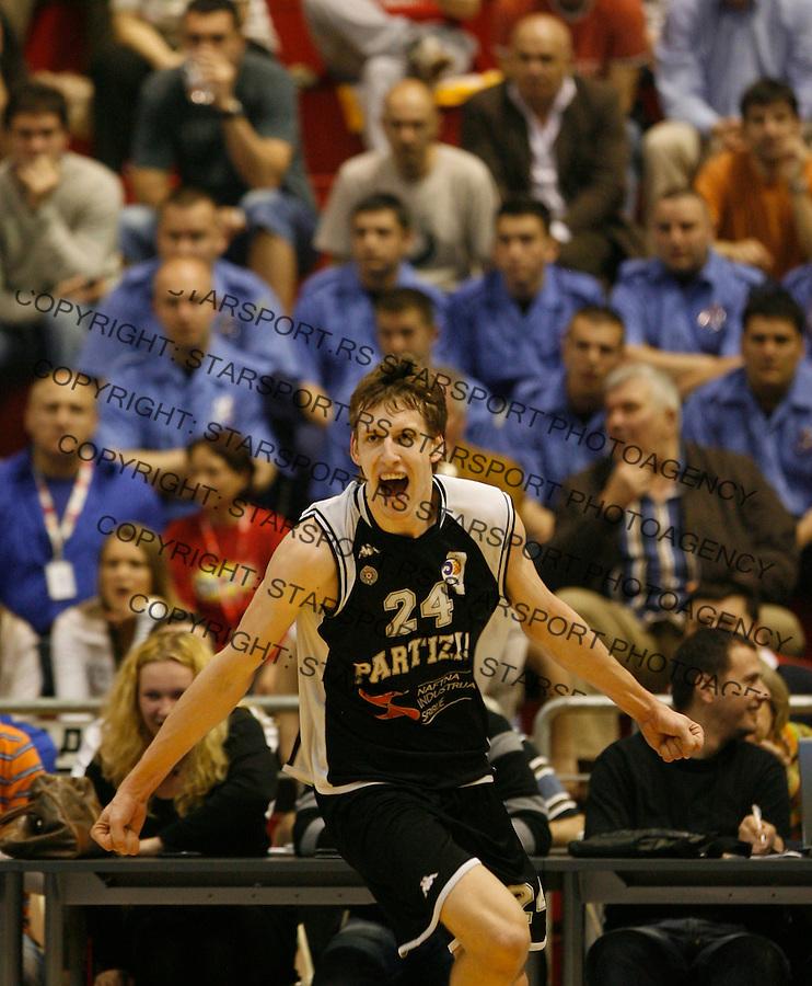 Kosarka, Super liga Srbije, sezona 2009/2010.Crvena Zvezda Vs. Partizan.Jan Vesely, celebrate.Belgrade, 28.04.2010..foto: Srdjan Stevanovic/Starsportphoto ©