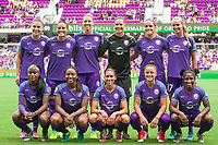 Orlando, FL - Saturday April 22, 2017: Orlando Pride Starting Eleven during a regular season National Women's Soccer League (NWSL) match between the Orlando Pride and the Washington Spirit at Orlando City Stadium.